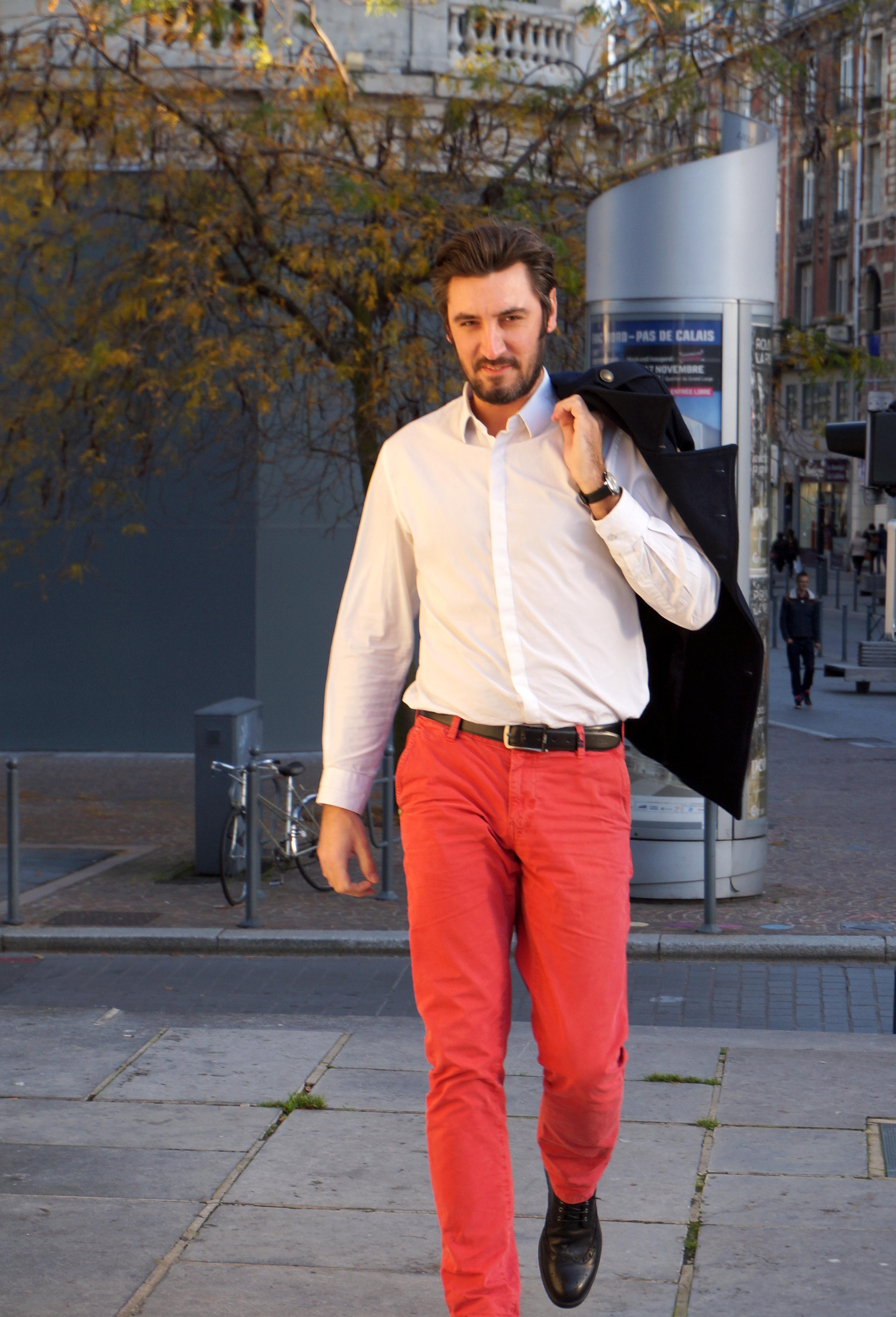 Trendyman 1 le pantalon rouge trendydelight - Comment coucher avec un homme ...