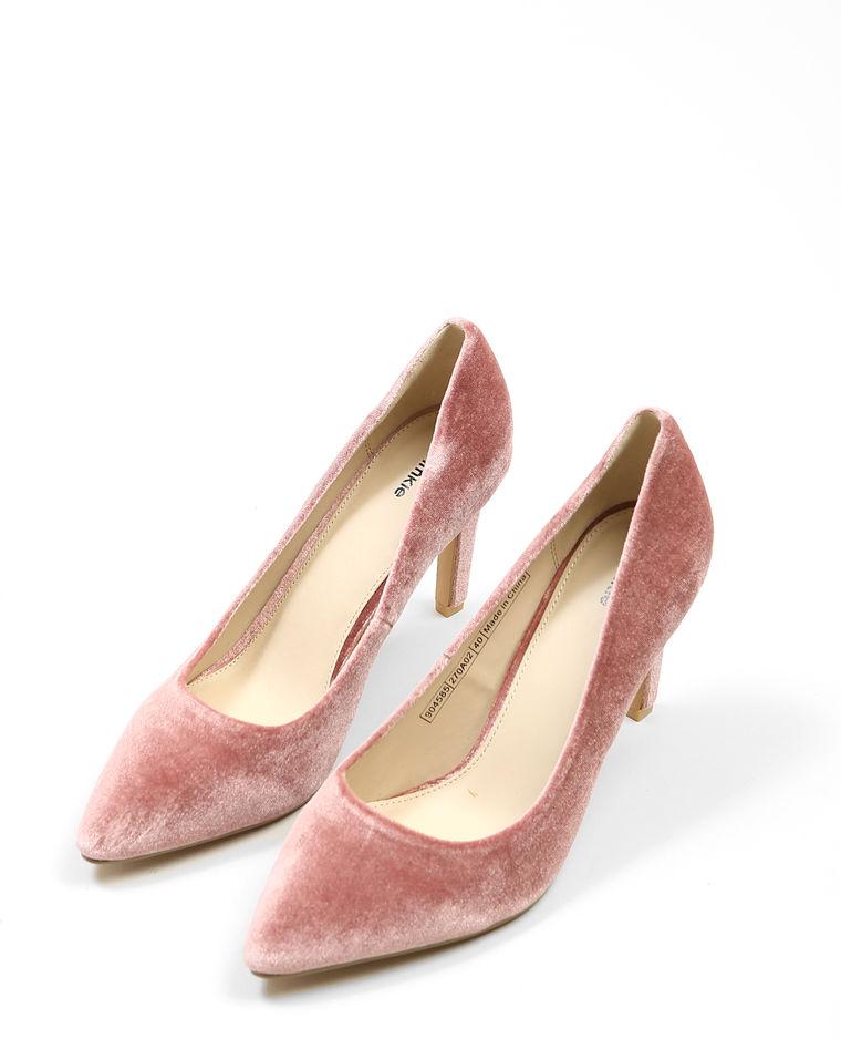 Escarpins velours blush