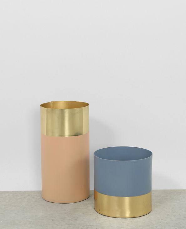 Vases mordoré et bleu
